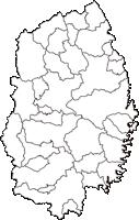 岩手県(いわてけん)の白地図無料ダウンロード