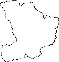 宮城県白石市(しろいしし)の白地図無料ダウンロード