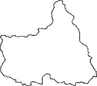宮城県刈田郡七ヶ宿町(しちかしゅくまち)の白地図無料ダウンロード