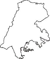 宮城県宮城郡松島町(まつしままち)の白地図無料ダウンロード