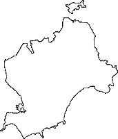宮城県宮城郡七ヶ浜町(しちがはままち)の白地図無料ダウンロード