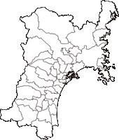 宮城県(みやぎけん)の白地図無料ダウンロード