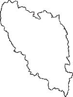 秋田県大館市(おおだてし)の白地図無料ダウンロード