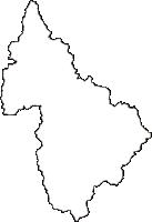 秋田県北秋田市(きたあきたし)の白地図無料ダウンロード