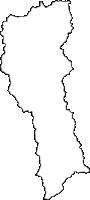 秋田県北秋田郡上小阿仁村(かみこあにむら)の白地図無料ダウンロード