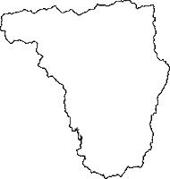 秋田県山本郡藤里町(ふじさとまち)の白地図無料ダウンロード