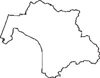 秋田県山本郡三種町(みたねちょう)の白地図無料ダウンロード