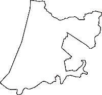 秋田県南秋田郡八郎潟町(はちろうがたまち)の白地図無料ダウンロード