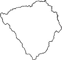 秋田県雄勝郡羽後町(うごまち)の白地図無料ダウンロード