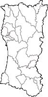 秋田県(あきたけん)の白地図無料ダウンロード