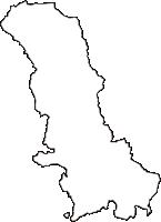山形県寒河江市(さがえし)の白地図無料ダウンロード