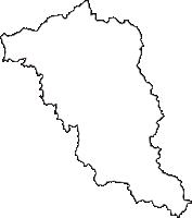 山形県尾花沢市(おばなざわし)の白地図無料ダウンロード