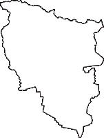 山形県西村山郡河北町(かほくちょう)の白地図無料ダウンロード