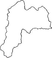 山形県西村山郡西川町(にしかわまち)の白地図無料ダウンロード