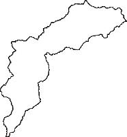 山形県最上郡舟形町(ふながたまち)の白地図無料ダウンロード