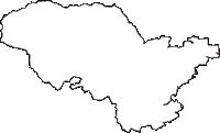 山形県最上郡鮭川村(さけがわむら)の白地図無料ダウンロード
