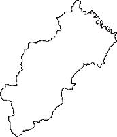 山形県東置賜郡川西町(かわにしまち)の白地図無料ダウンロード