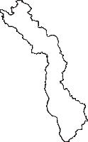 山形県東田川郡庄内町(しょうないまち)の白地図無料ダウンロード