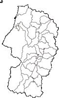 山形県東置賜郡高畠町(たかはたまち)の白地図無料ダウンロード