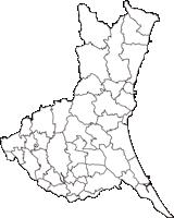 茨城県(いばらきけん)の白地図無料ダウンロード