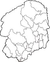 栃木県(とちぎけん)の白地図無料ダウンロード