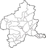 群馬県(ぐんまけん)の白地図無料ダウンロード