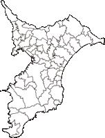 千葉県(ちばけん)の白地図無料ダウンロード
