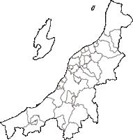 新潟県(にいがたけん)の白地図無料ダウンロード