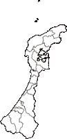 石川県輪島市(わじまし)の白地図無料ダウンロードの白地図無料ダウンロード