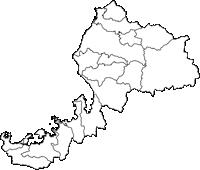 福井県(ふくいけん)の白地図無料ダウンロード