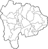 山梨県(やまなしけん)の白地図無料ダウンロード