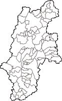 長野県(ながのけん)の白地図無料ダウンロード
