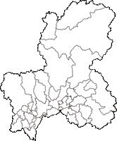 岐阜県(ぎふけん)の白地図無料ダウンロード