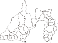 静岡県(しずおかけん)の白地図無料ダウンロード