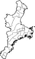 三重県(みえけん)の白地図無料ダウンロード