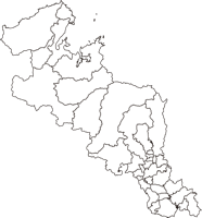 京都府(きょとふ)の白地図無料ダウンロード