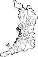 大阪府(おおさかふ)の白地図無料ダウンロード