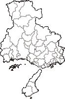 兵庫県(ひょうごけん)の白地図無料ダウンロード
