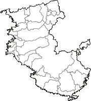 和歌山県(わかやまけん)の白地図無料ダウンロード