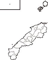 島根県(しまねけん)の白地図無料ダウンロード