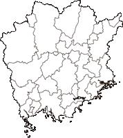 岡山県(おかやまけん)の白地図無料ダウンロード