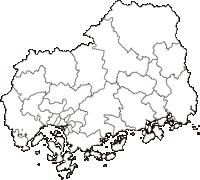 広島県(ひろしまけん)の白地図無料ダウンロード