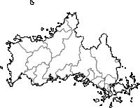 山口県(やまぐちけん)の白地図無料ダウンロード
