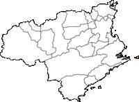 徳島県(とくしまけん)の白地図無料ダウンロード