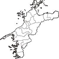愛媛県(えひめけん)の白地図無料ダウンロード