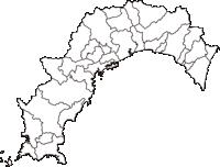 高知県(こうちけん)の白地図無料ダウンロード
