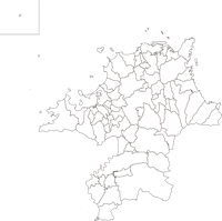 福岡県(ふくおかけん)の白地図無料ダウンロード