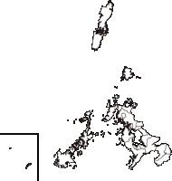 長崎県(ながさきけん)の白地図無料ダウンロード