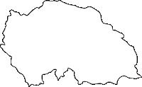 熊本県小国町(おぐにまち)の白地図無料ダウンロード