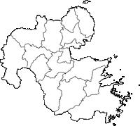 大分県(おおいたけん)の白地図無料ダウンロード